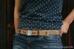 Die Idee zu diesem Gürtel hatte ich schon im Urlaub! Gürtel aus Snap Pap