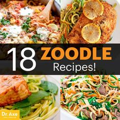 Zoodle recipes - Dr. Axe