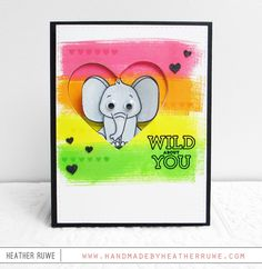Handmade by Heather Ruwe: Simon Says Stamp Card Kit, Wild and Colorful!