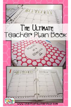 Read about how to put together the Ultimate Teacher Plan Book (binder). It really is the ultimate plan book! Teacher Plan Books, Teacher Planner, Teacher Binder, Teacher Tools, Teacher Resources, Teachers Toolbox, Teacher Stuff, Teaching Ideas, Classroom Organisation