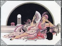 art deco lady relaxing
