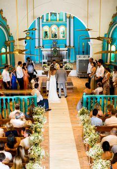 Casamento na praia - Cerimônia na Igrejinha de Trancoso Bahia ( Foto: Ernandes Alcantara, Marcus Cambraia e Fernanda Souto )