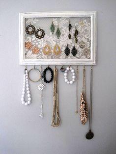 Jewelry Hanger / Organizer / Vintage DIY project