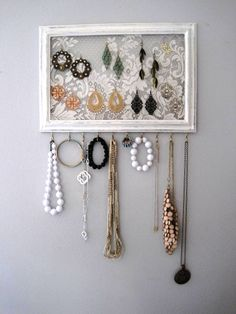 Jewelry Hanger / Organizer / Vintage DIY project