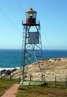 Lighthouses of S Africa Cape Infanta lighthouse This Lighthouse is situated in the San Sebastian Private Nature Reserve on the road to Cape Infanta. It has a 15 meter lattice tower and was commissioned on 15 March 1979. Tortoises and Proteas are found in abundance in this area.