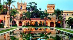 Balboa Park - San Diego, California i suppose home can be rather beautiful when seen from another perspective. Oh The Places You'll Go, Places To Travel, Places To Visit, Visit San Diego, Parque Natural, San Diego Travel, Urban Park, California Travel, Southern California