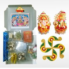 Buy #DiwaliFestiveBox with Lakshmi Pooja Samagri, Swastik Kundan Rangoli and Lakshmi Ganesha Idol only at #BringHomeFestival and celebrate this #Diwali stress free. Order now to get special offers. Hurry Up! Limited Offer!