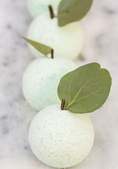 DIY Green Apple Bath Bombs - Sugar and Charm - sweet recipes - entertaining tips - lifestyle inspiration