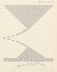 <3 Henri Chopin, La crevette amoureuse, 1967-1975