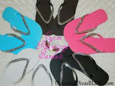 Rhinestone Sandals! $25 www.DiamondDivasBLING.com ♥ LIKE ♥ our page today! www.facebook.com/DiamondDivasBLING ♥ Bling Sandals, Rhinestone Sandals, 3 Shop, Flip Flops, Trending Outfits, My Style, Unique Jewelry, Handmade Gifts, Facebook