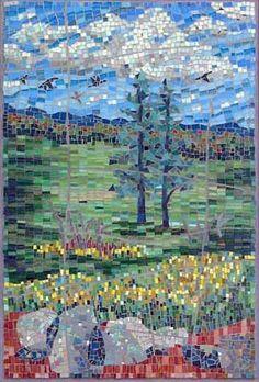 MOSAIC ART COMMISSIONS FOR THE HOME, PORTFOLIO OF FINE ART MOSAICS, CONTEMPORARY MOSAIC ART
