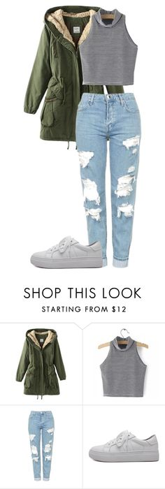 """""""Untitled #810"""" by fools-gold-malum ❤ liked on Polyvore featuring Topshop and WithChic"""