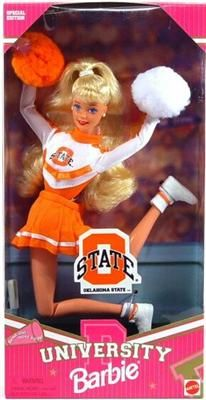 Oklahoma State University Barbie. And yes, I have one, still in the box:)