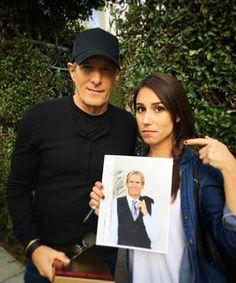 Michael with actress Nicole Dambro