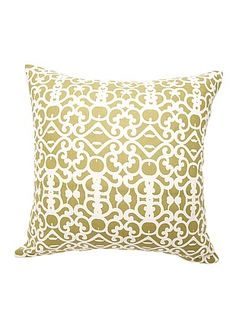 Hot Summer Cushions  Linen And Cotton Cushion Cover Green Swirls