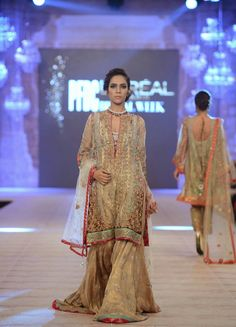 The PFDC L'Oreal Paris Bridal Week 2014 had some of the best bridal looks of the season. From anarkalis to shararas take a look at all it all right here. Pakistani Formal Dresses, Pakistani Bridal Wear, Pakistani Outfits, Indian Outfits, Indian Bridal, Bridal Lehenga, Latest Bridal Dresses, Bridal Wedding Dresses, Wedding Wear