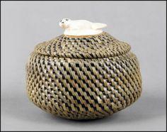 Baleen and Ivory Basket: Lot 132-8028 #ivory #baleen #basket