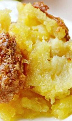 Pineapple Casserole - Makes a wonderful side dish OR a dessert.  I've had this made with cornbread in place of bread & it was fabulous!