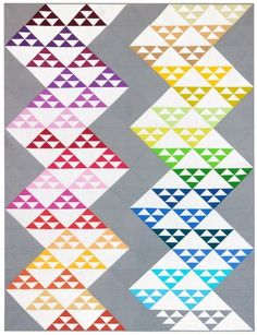 "Free pattern. Final quilt measures 68"" x 88"" and is Fat Quarter Friendly!</p>"