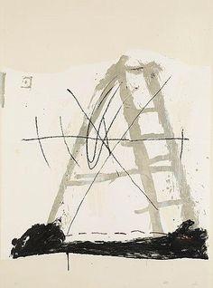 L'ECHELLE  By Antoni Tàpies    Dimensions: 143 x 105 cm  Medium: Lithograph in colours  Creation Date: 1968