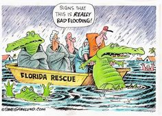 Dave Granlund cartoon about flooding Florida. Other cartoons can be found here: https://www.morecontentnow.com/cartoons/