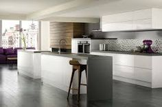 kitchen white cabinets grey countertops - Google Search
