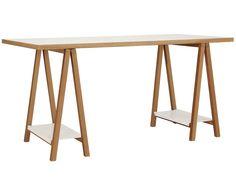 Schreibtisch Weiß, Braun - WOODMAN >> WestwingNow | WestwingNow