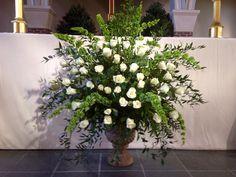 Wedding altar flowers 12-28-13 by Sandy Vincent.