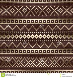 Knitted Seamless Pattern In Fair Isle Style - Download From Over 28 Million High Quality Stock Photos, Images, Vectors. Sign up for FREE today. Image: 44496510