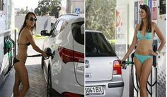 Here's why bikini-clad women are making beeline at this gas station!