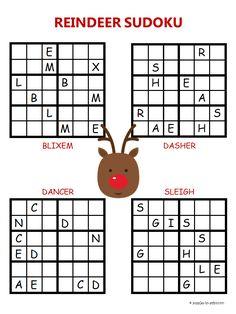 christmas sudoku reindeer - Christmas Puzzles Free