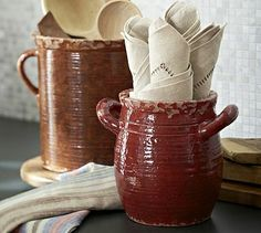 Rustic Cucina Crocks #potterybarn  You can't have too many of these.