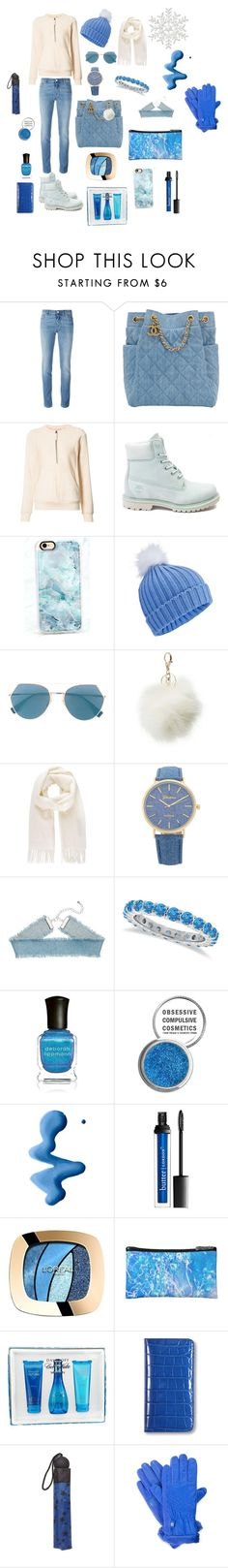 """My lovely blue"" by sahar1219 ❤ liked on Polyvore featuring Givenchy, Chanel, Helmut Lang, Timberland, Casetify, Miss Selfridge, Fendi, Charlotte Russe, Vivienne Westwood and Allurez"