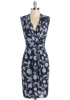 Art Gallery Gal Dress. At opening night for the new exhibition, youre excited to show off the pieces youve so carefully curated, as well as the navy sheath. #blue #modcloth