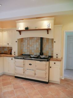 Bespoke Kitchen Mantle Surround For Above A Range Cooker