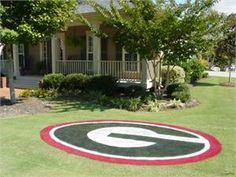 University of Georgia oval stencil for the yard.  How cool is this?