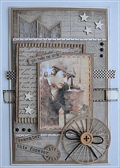 Welcome: DT card for challenge # 100 in Card and scrap with blog hop :)