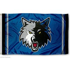 NBA Minnesota Timberwolves 3x5 Banner Flag >>> Continue to the product at the image link.