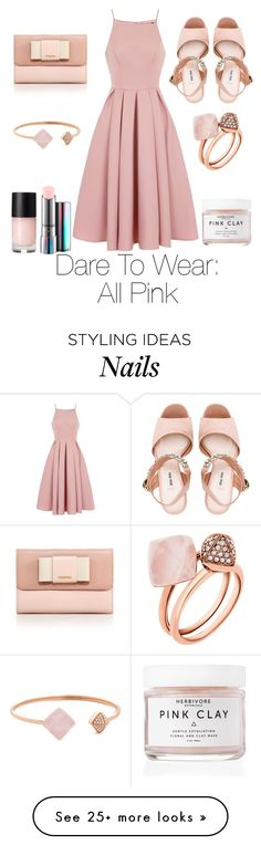 """All Pink"" by nourabdallah999 on Polyvore featuring Chi Chi, Herbivore, MAC Cosmetics, Miu Miu and Michael Kors"