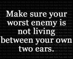 Keep self talk positive