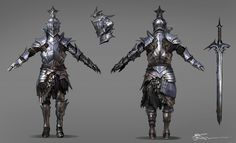 A Front/Back fancy armor design did it while ago. if some1 out there who wanna make it as 3D portfolio please go ahead. =)