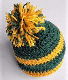 Oregon Ducks   Green Bay Packers crochet (yellow green) Pom Pom Hat 8c5556b4ae3e