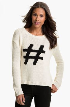 What is this communicating? That you think you're a trending topic? I'm conflicted on this sweater. Current Affair Intarsia Sweater | Nordstrom
