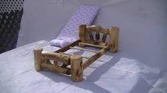 Resultado de imagen para log doll bed