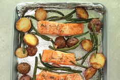 Sheet Pan Salmon, Green Beans, andPotatoes  | MyRecipes