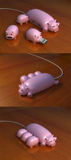 Now that's a cool invention... #Pig #USB