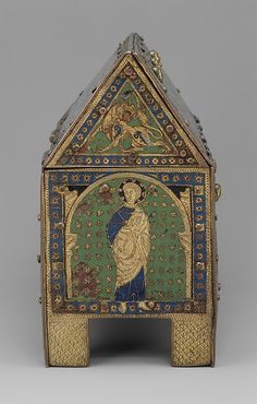 Chasse with Christ in Majesty and Apostles Date: ca. 1190–1200  Made in Limoges, France
