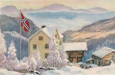 God Jul - Selges av Oppstad fra Vadsø på QXL.no Norwegian Christmas, Christmas Cards, Christmas Postcards, Norway, God, Painting, Christmas E Cards, Dios, Xmas Cards