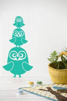 Three Owls - Decorative Wall Stickers.