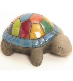 Clay Turtle, Ceramic Turtle, Ceramic Birds, Ceramic Animals, Clay Animals, Ceramic Pottery, Pottery Sculpture, Sculpture Clay, Ceramic Painting